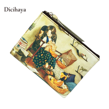 Genuine leather Luxury Women Wallets Color Leather High Quality Designer Brand Wallet Lady Small Clutch Women Purses Party(China)