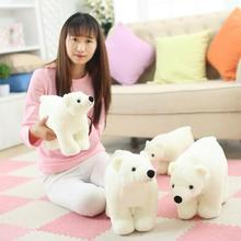 1pcs 20cm/25cm/35cm/45cm new white polar bear stuffed soft teddy bear plush toy doll free shipping