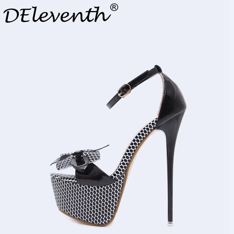 Fashion Summer Women Super High Heels Sandals 16.5cm Sexy Stripper Party Shoes Woman Flower Gladiator Platform Sandals Ladies<br>
