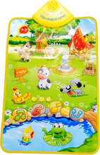 BOHS Educational Toys Early Learning Farm Animals Sound Cognitive Chart Music Game Carpet Computer(China)