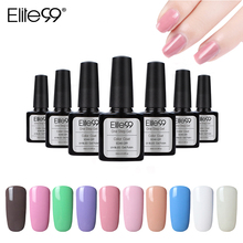 Elite99 10ml Soak Off One Step Gel Nail Polish No Need Top Base Coat Long Lasting Nail Art Gel Lacquer All 60 Colors Wholesale(China)