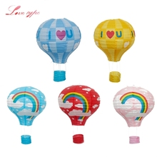 12inch DIY Rainbow Paper Lantern Hot Air Balloon Sky Lanterns Home/Wedding/Birthday/Christmas Party Decoration Kids Gift