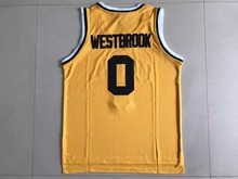SexeMara UCLA 0# Russell Westbrook Crenshaw Blue White Home Road Mens Throwback Basketball Jerseys Stitched Embroidery Logos