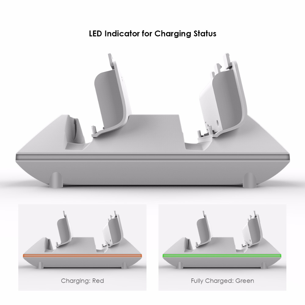 GameSir W60X611 Wireless Controller Charging Station with 2x 800mAh Rechargeable Battery Packs and USB Cable for Xbox One