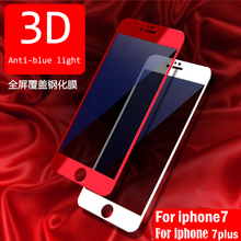 Buy Anti-blue light Protector glass soft edge iphone 7 plus Screen Protector 3D glass Full Cover Film Tempered Glass iphone7 for $2.16 in AliExpress store