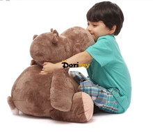 Dorimytrader 31'' / 80cm Giant Soft Stuffed Plush Cartoon Animal Hippo Toy.2 Colors Nice Baby Gift Free Shipping DY60245