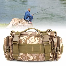 1PC Canvas Fishing Bags New Multi-function Fishing Tackle Bag Waterproof Waist Fishing Lure Bag