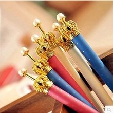 Creative students stationery South Korea cute little pure and fresh and crown princess gel pen Ballpoint pen automatic pencil(China)