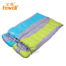 Adult Thickened Rectangular Couples Camping Indoor Siesta Spring And Winter Light Checked Cloth Sleeping Bag Shipping From RU(China)