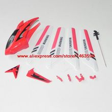 Wholesale Syma S107 S107G S107C RC Helicopter Spare Parts Red parts set Free Shipping(China)