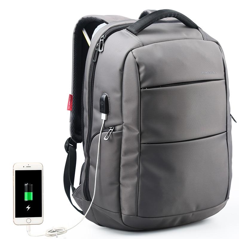 Man Business Knapsack External Charging USB Function Laptop Backpack Anti-theft backpack Waterproof Travel Bag women 15.6 inch<br>
