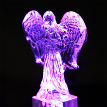 3D Angel Crystal Craft Table Model Ornaments Cube LED Light Angel Home Decoration Accessories Lover Friend Birthday Gift Craft