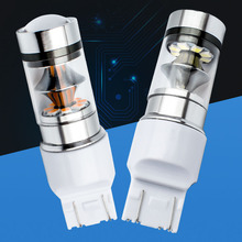 2pcs Newest High Quality T20 7443 W21/5W LED Car Tail Bulb 21/5W Brake Lights auto Fog Lamps Turn Signals white red yellow 12V