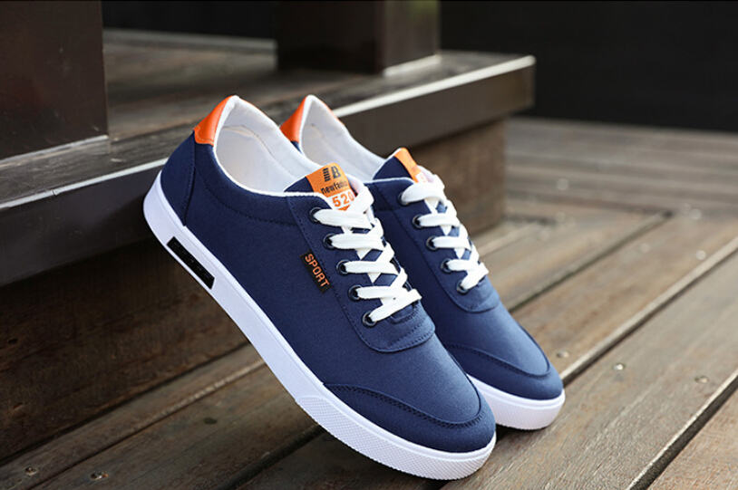 2017 Mens canvas shoes The trend of casual shoes breathable Boys white canvas shoes<br><br>Aliexpress