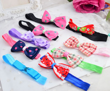 New Arrival Baby Novelty Bandeau Polka Dot Kids headdress Hair Bows Children Accessories Hairband