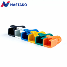 NASTAKO 50/100PCS Colorful Cat6 RJ45 Connector Caps Cat6A Plugs Boots Network Ethernet Cable Dust Cap RJ45 Connector Covers(China)
