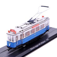 Collectible  1:87 Scale Tram Blauwe wagen 465 Beijnes 1929 Diecast Model Truck Bus Model Toys For Children Kids Toys Gift E