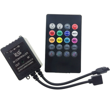 LED Music IR Controller 20 Keys Remote Sound Sensor For RGB LED Strip Decoration Lighting Accessory(China)