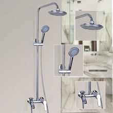 Fashion Style Bathroom Faucet Polished Chrome Single Handle Shower Set Hot&Cold Mixer Taps Wall Mounted Rainfall Shower Faucets