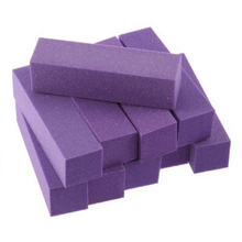 10pcs/lot High Quality Pro Nail Buffer File Purple Sponge Sandpaper Emery Block Polishing Grinding Sets -27