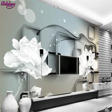beibehang wall paper With sound insulation effect wallpaper 3 d transparent flower dream only beautiful TV setting wall flowers