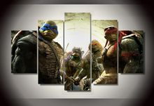 2017 New Paintings Wall Pictures For Living Room Hd Teenage Mutant Ninja Turtles Group Painting Room Decor Print Film Canvas