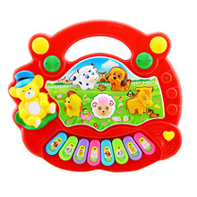 New Hot Selling Cartoon Animal Farm Electronic Music Toys Kids Baby Musical Learning Educational Piano Organ Christmas Gifts