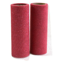 "Burgundy Tutu Glitter Tulle Roll Spool 6"" x 25 yards Fabric Netting Wedding Sparkle Gift Wrap Bow Craft"