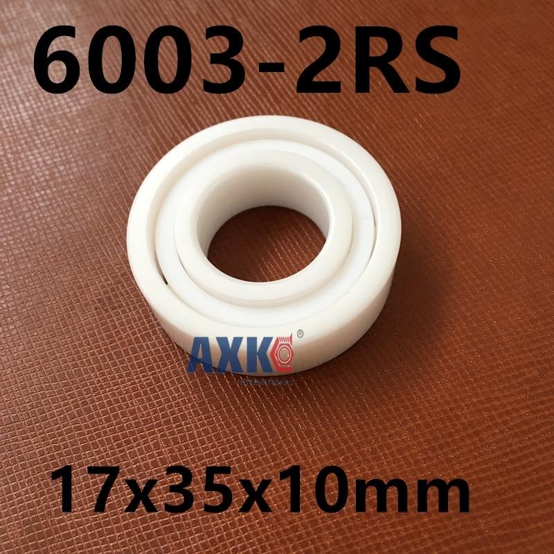 Free shipping high quality 6003-2RS full ZrO2  P5 ABEC5 ceramic deep groove ball bearing 17x35x10mm 6003 2RS ABEC5<br>