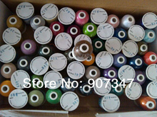 Free shipping Brother color computer / machine polyester embroidery thread in 61 colors/box, 1000m/cone(China)