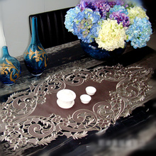 Garden High-grade Embroidered Tablecloths Coffee Table Towel Table Runner Cover Towel Placemat 2 Colors A-112