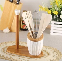 Fashion Ceramics Cooking Tools Organzier Decorative Bamboo Tissue Stand Tableware and Kitchenware Necessity Supplies Accessories(China)