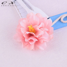 CXADDITIONS Artificial Flower Hair Clips Wedding Party Woman Fabric Flower Crown Hair Brooch Floral Headband Travel Ornament(China)