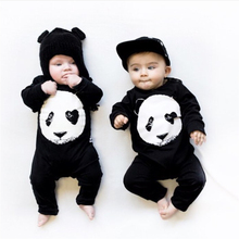2017 Autumn Hot sale Baby Boys Girls Romper Unisex Long-sleeved Panda Print Infant Jumpsuit Newborn Toddler Baby Clothes(China)