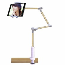 Folding Tablet PC Stand Removable 360 Rotation Strong Holder Support 4-14 inch Tablets Lazy People Table/Bed Bracket for iPad