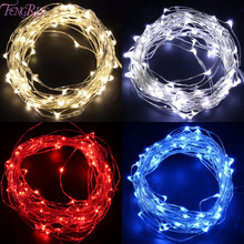Buy FENGRIS LED Christmas Lights Decoration 2m Light Copper Wire String Fairy Light AA Battery Romantic Wedding Event Party Supplies for $1.49 in AliExpress store
