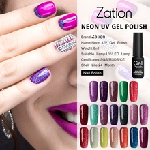 Zation 19 Color Neon Nail Gel Polish Long Lasting Hybrid UV LED Gel Varnish Soak Off Semi-Permanent Shiny Nail Gel Polish(China)