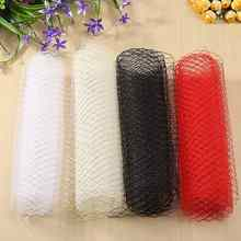 Yarn Fabric For Veil Mesh Wedding Cloth Hat Mesh DIY Sewing Beige White Black Red Millinery Clothes Craft DIY Material 200x26cm