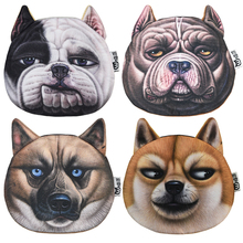 New Arrival Dog Face Coin Purses Women Zipper Storage Bag High Quality 3D Plush Female Wallets Children Gift Card Holder Pouch