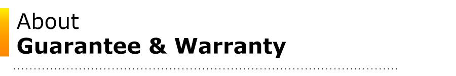 ASDK-Guarantee & Warranty