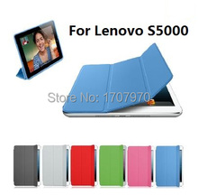 New Arrive Hot Lenovo S5000 case 3 Foldable Stand high quality PU Leather Case for Lenovo S5000 7inch Tablet PC+Free Shipping(China)