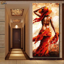 Sexy Film Star Picture Canvas Wall Art 100% Hand Painted Modern Abstract Oil Painting for Home Decor Gift No Frame SL024