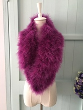 Natural turkey Fur collar scarf Winter Ladies neck warmer genuien real ostrich fur collar for lady female spring autumn scarf