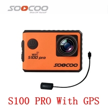 Original SOOCOO S100PRO 4K Wifi Sports Action Camera Touch Screen Gyro with GPS Extension Model Voice Control 1080P Action Cam