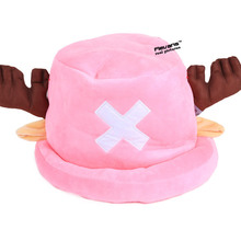 Anime One Piece Tony Tony Chopper Cosplay Hat Plush Toy Doll(China)