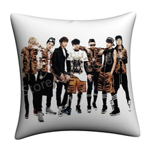 "BTS Bangtan Boys Throw Pillow Case BTS 2 Cool 4 Skool Cushion Cover KPOP BTS Album Photo Home Decor Cases Gifts 18"" Two Sides(China)"