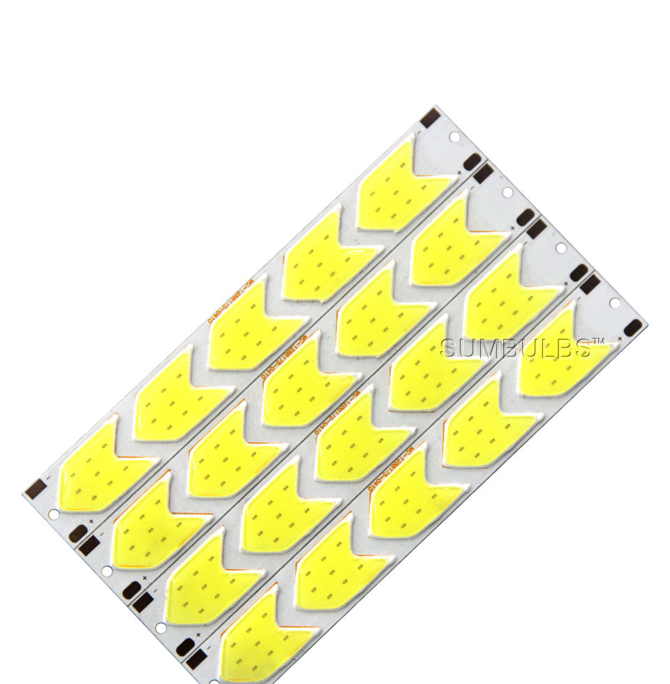 Special Shape COB LED Light Strip DC 12V 5W 6W Cold White LED Bulb with Star Grid Arrow Shape DIY Work Home Car Decor Lighting (7)