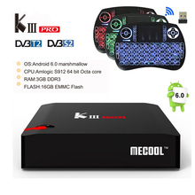 Buy DVB-T2 DVB-S2 KIII PRO Android Tv Box 3G/16G Amlogic S912 Octa core 2.4G/5.0G Dual WiFi BT4.0 1000M UHD 4K Media Player KIIIPro for $123.90 in AliExpress store