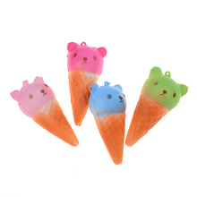 JETTING Animal Panda Jumbo kawaii Colorful Bear Ice cream Squishy Super Slow Rising Soft Phone Strap Bread Cake Toys Gift 1pcs