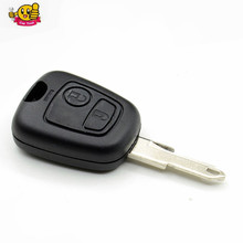 10pcs/lot Replacement Remote Key Case Shell Entry Fob 2 Buttons for Peugeot 206 with Key Blade Groove with logo(China)
